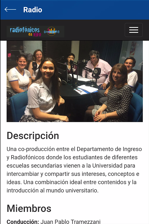 UCA - Departamento de Ingreso- screenshot