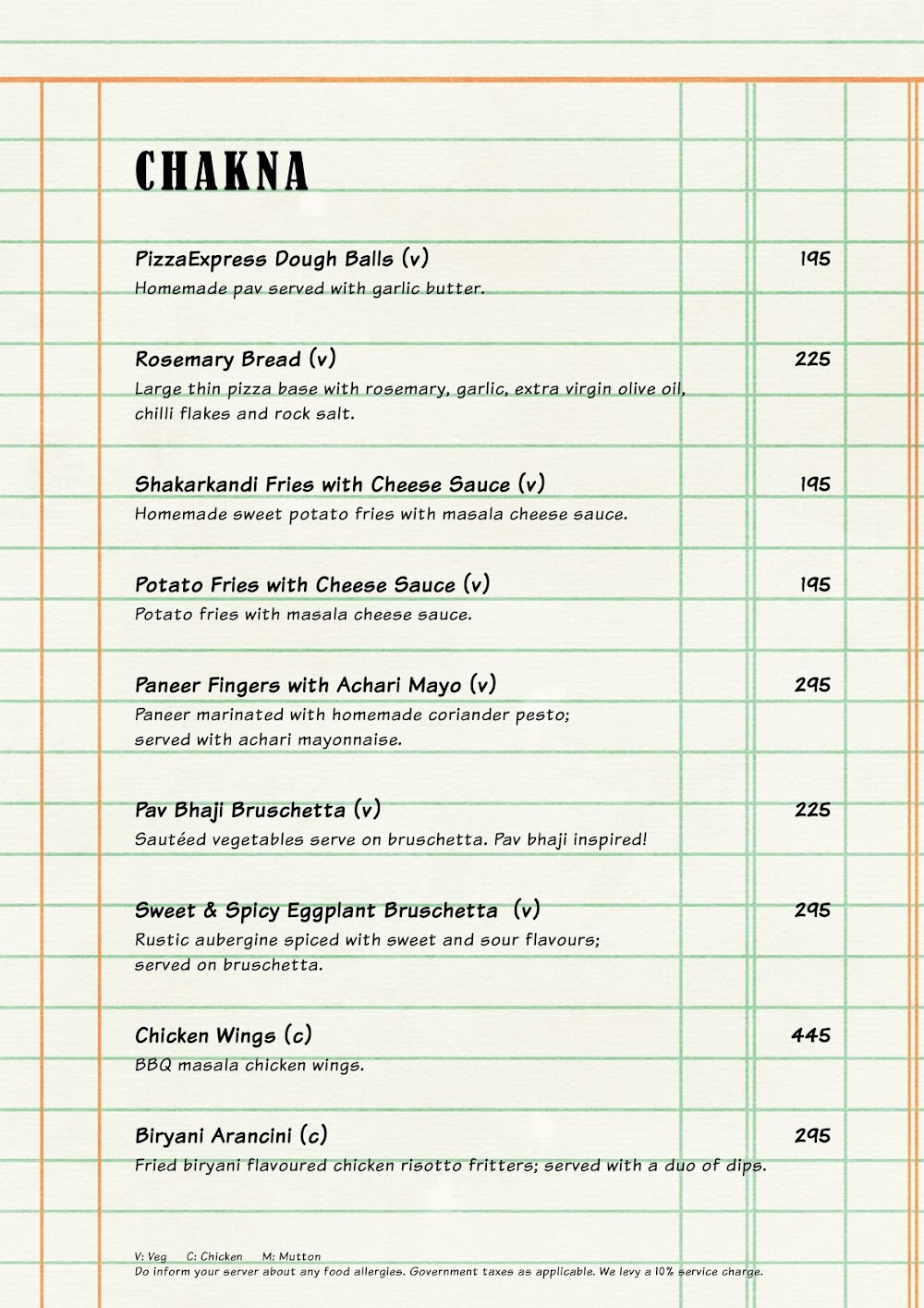 The Market Project by PizzaExpress menu 13