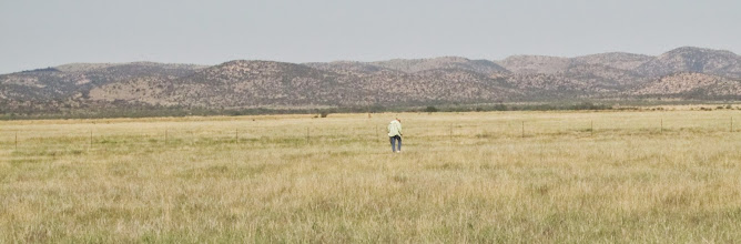 Photo: Adriean on the prairie.