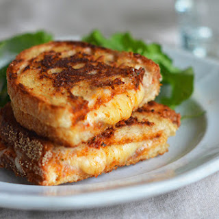 Grilled Cheese Sandwiches with Sun-Dried Tomato Pesto.