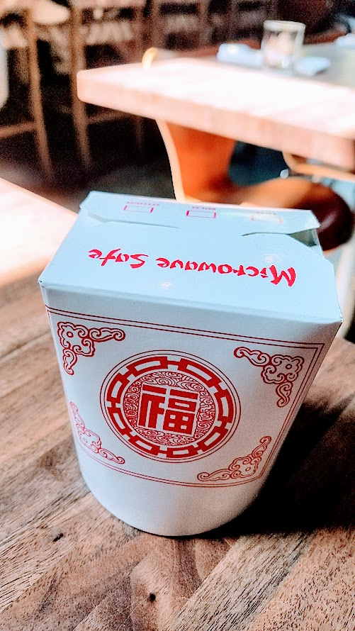 Expatriate Brunch - take out box for leftovers