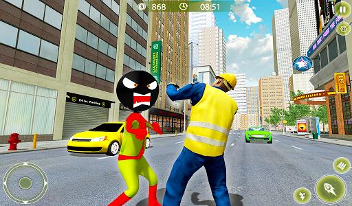 Stickman Crime City War - Stick Rope Hero Game 3 screenshots 12