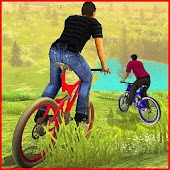 Offroad Mountain Bicycle Rider