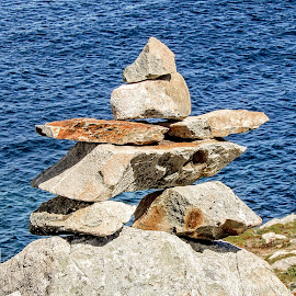 Cairn by Richard Michael Lingo - Artistic Objects Other Objects ( artistic objects, rock, newfoundland, objects, cairn )