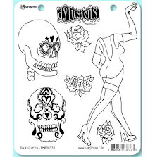Dylusions Cling Stamps 8.5X7 - Pin Up Queen