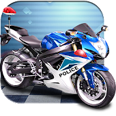 3D Police Motorcycle Race 2016