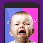 Boy or girl: a baby crying Icon
