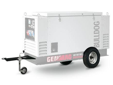 Slow Speed trailer till Genmac elverk