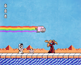 """Photo: """"Nyan Cat's Bible Adventures"""" (2013)  http://en.wikipedia.org/wiki/Bible_Adventures http://en.wikipedia.org/wiki/Nyan_Cat"""