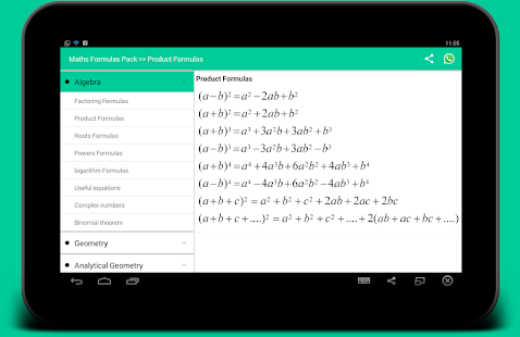 All Math formula Screenshot