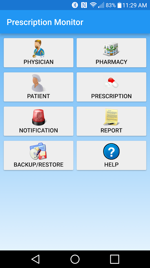 Prescription Monitor- screenshot