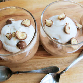 Malted Milk Ball Chocolate Mousse.