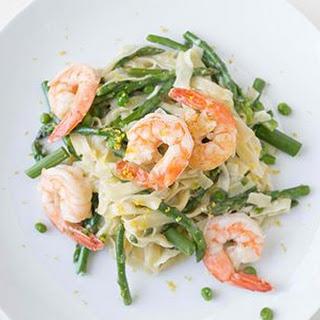 Shrimp Pasta Primavera.