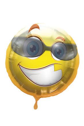 Folieballong, smile med solglasögon