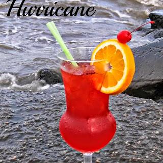 Classic Hurricane Cocktail.