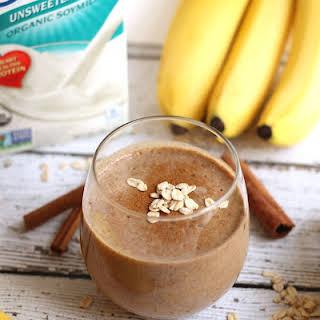 Oatmeal Cinnamon Raisin Protein Smoothie.