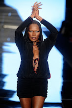 Photo: NEW YORK - FEBRUARY 13:  Model Grace Jones walks the runway at the This Day/Arise Magazine: African Fashion Collective Falll 2009 fashion show during Mercedes-Benz Fashion Week at The Promenade in Bryant Park on February 13, 2009 in New York City.  (Photo by Frazer Harrison/Getty Images for IMG)