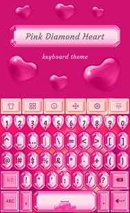 Pink Diamond ❤️ Heart Keyboard - náhled
