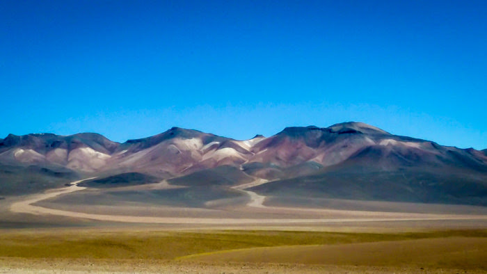 The colorful mountains in the atacama desert in Bolivia. Clicked this picture on my Bolivia travel trip.
