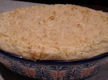 Make ahead Baked mashed potatoes
