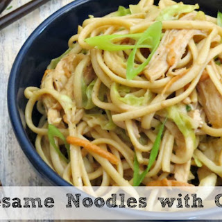 Sesame Noodles with Chicken | Delicious Warm or Cold!