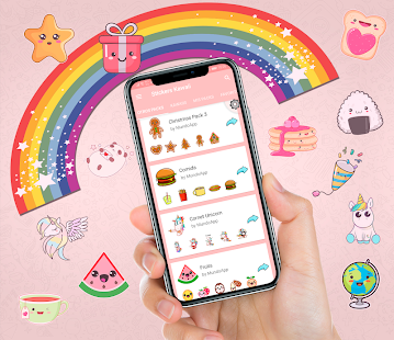 🌈  WAStickerApps Stickers Kawaii für WhatsApp Screenshot