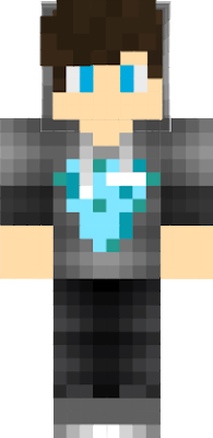 This is the diamond king's official minecraft skin.
