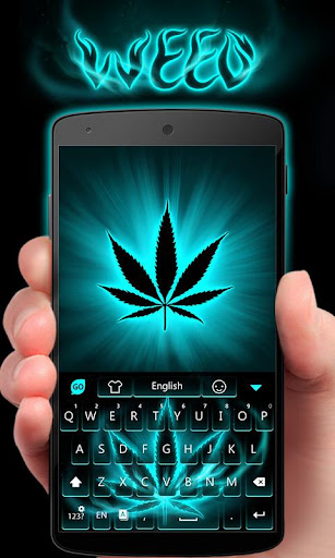 GO Keyboard Theme Weed