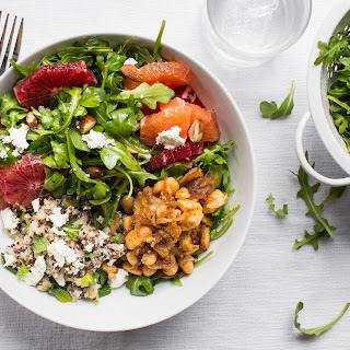 Quinoa & White Bean Salad With Arugula, Blood Oranges, And Mint