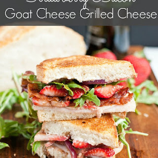 The Ultimate Strawberry Bacon Goat Cheese Grilled Cheese