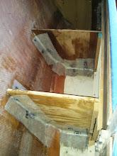 Photo: new bulkheads tabbed in under pilot berth