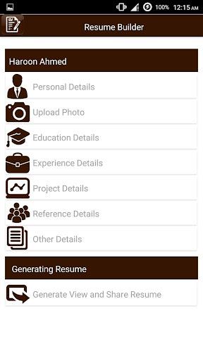 My Resume Builder,CV Free Jobs screenshot 6