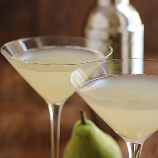Ginger Pear Martini or Mocktail.