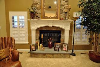 Photo: (After) Alloca's Fireplace Mantle on top of stone Collegeville, PA