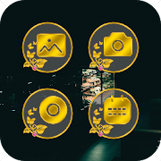 App Black Gold Flower Icon Pack - Luxury Theme APK for Windows Phone