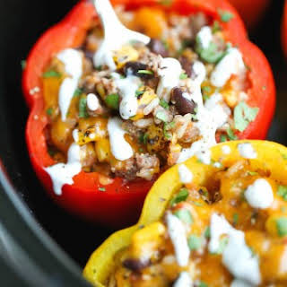 Slow Cooker Stuffed Peppers.