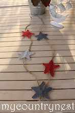 Photo: collana con stelle rosse e blu