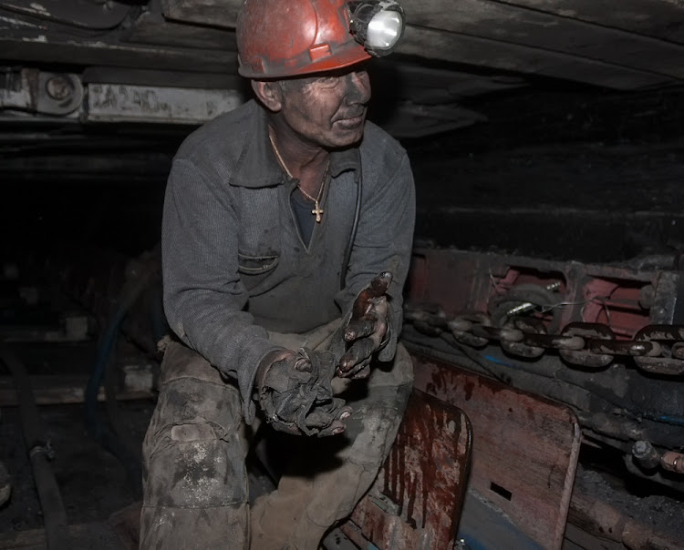 A miner repairs a coal mining combine in Donetsk, Ukraine.     Picture: ISTOCK