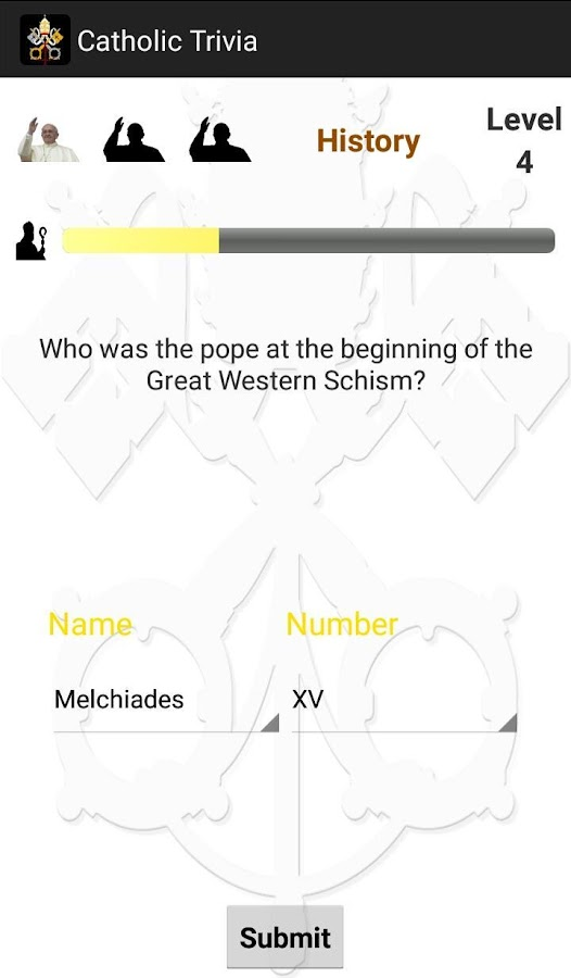 Catholic Trivia- screenshot