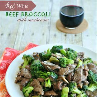 Red Wine Beef Broccoli With Mushroom