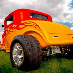Bill's Hill by Boyd Smith - Transportation Automobiles ( big tires, hot rod flames, hot rod, ford, custom car )