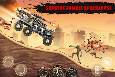 Zombie Hill Racing Mod Apk- Earn To Climb (Unlimited Money) 2
