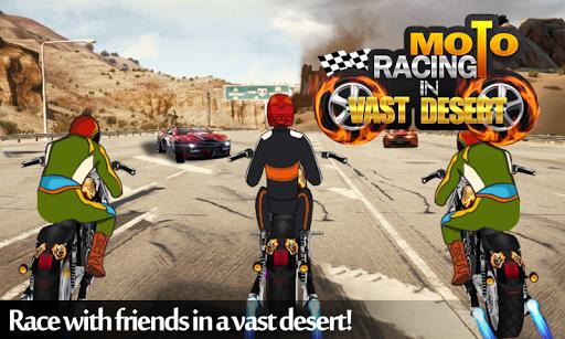 Moto Racing In Vast Desert
