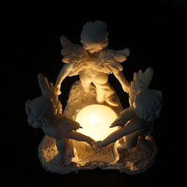 Angels2 by Sámuel Zalányi - Artistic Objects Still Life ( figurine, dancing, light, angels, candle, amorettos, sculpture,  )