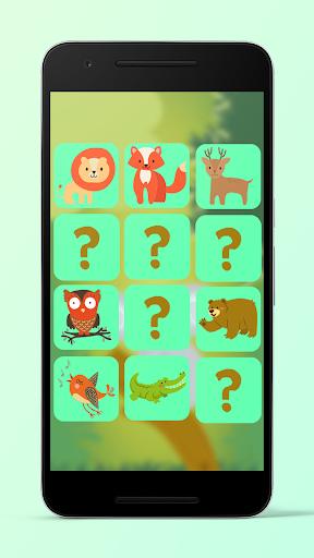 3D Animal Theme Memory Game