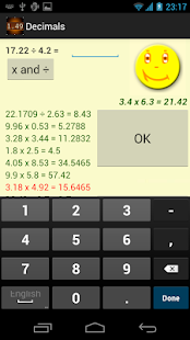Decimals Screenshot