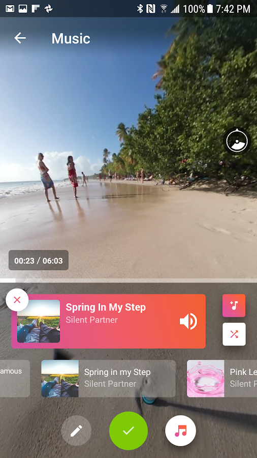 V360 - 360 video editor – Capture d'écran