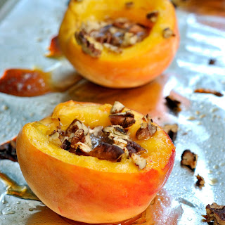 Honey Baked Peaches