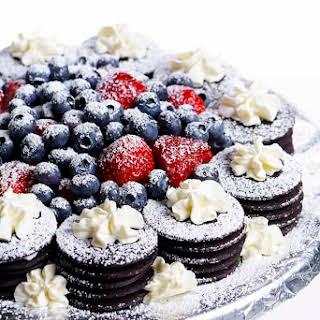 No Bake Chocolate Wafer Cheesecake.