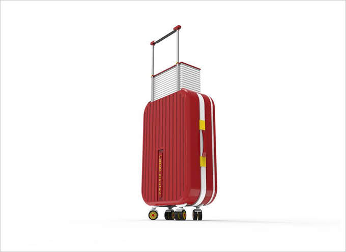 姐妹淘瘋設計抽屜行李箱